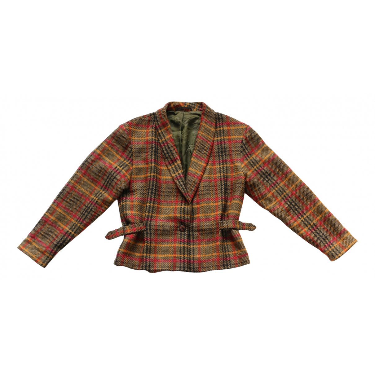 Non Signé / Unsigned N Multicolour Wool jacket for Women One Size International