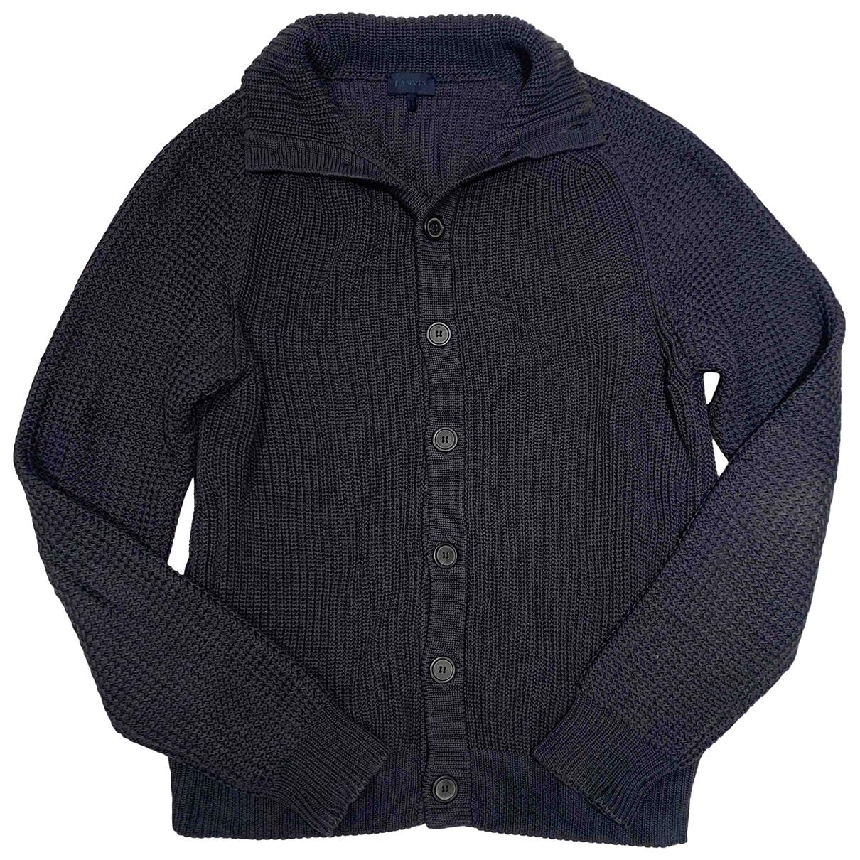 Lanvin \N Pullover.Westen.Sweatshirts  in  Grau Baumwolle