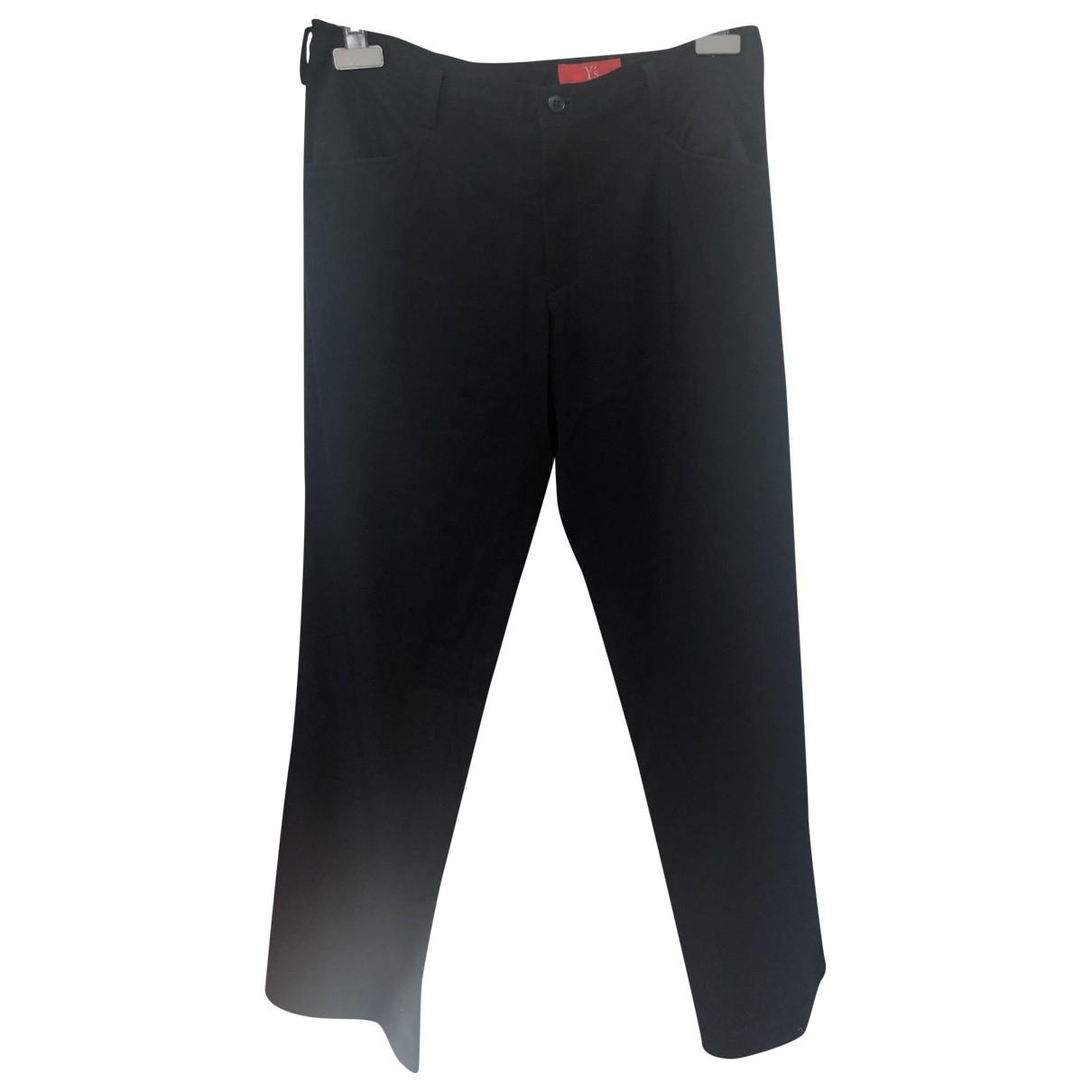 Yohji Yamamoto \N Black Wool Trousers for Women 3 0-5