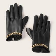 Handschuhe mit Kette Dekor