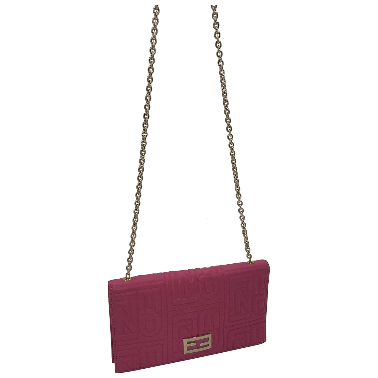 Fendi \N Clutch in  Rosa Leder
