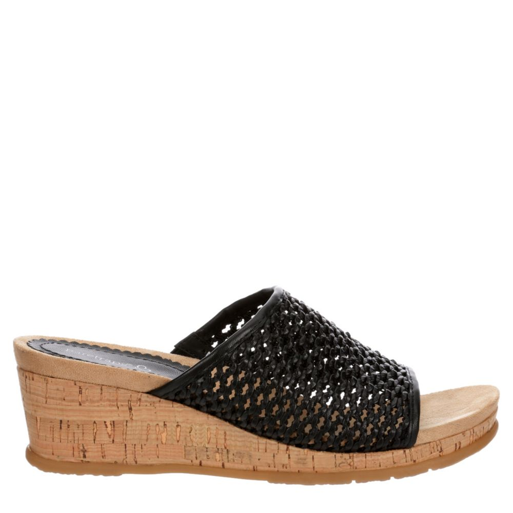 Bare Traps Womens Flossey Wedge Slide Sandals