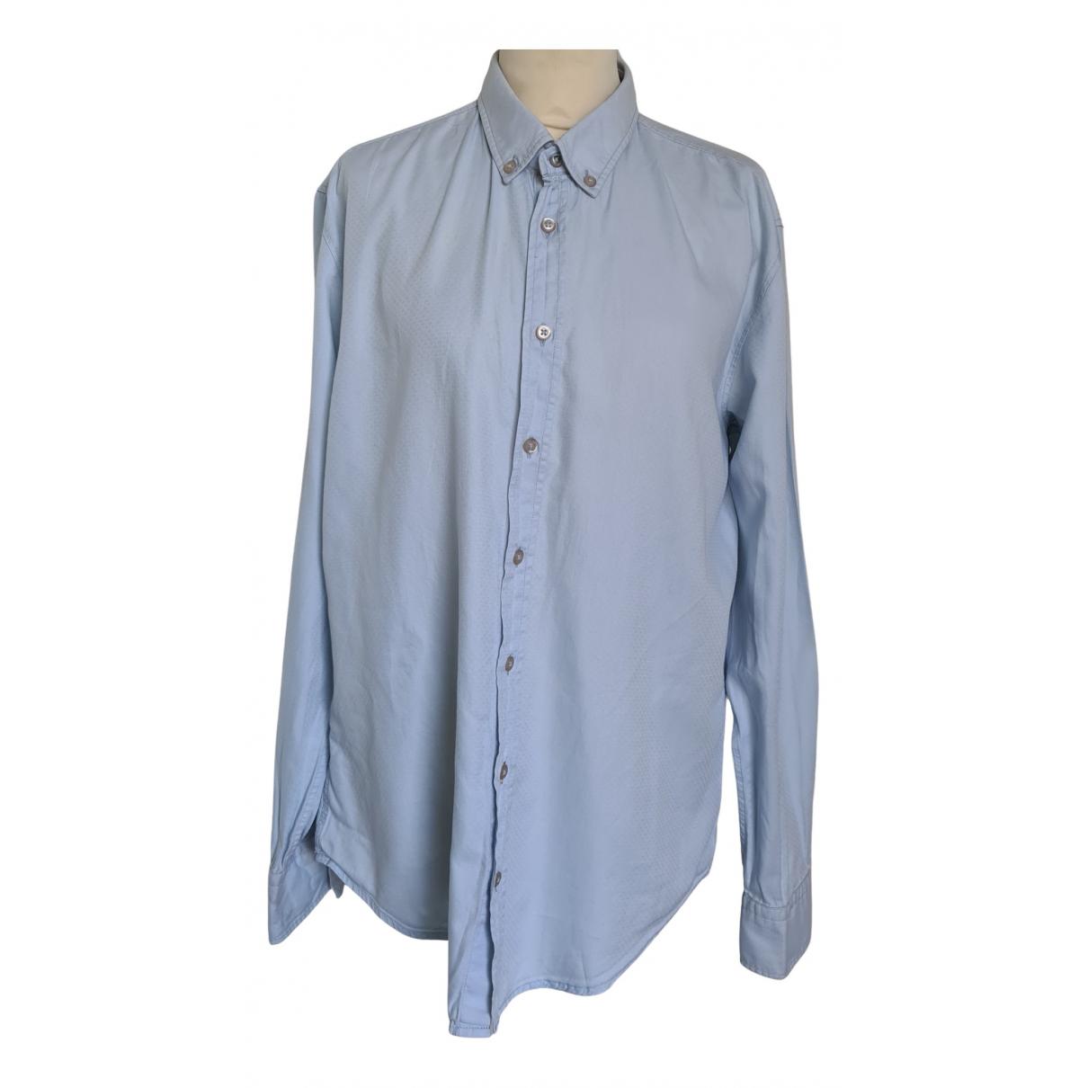 Boss Orange - Chemises   pour homme en coton - bleu