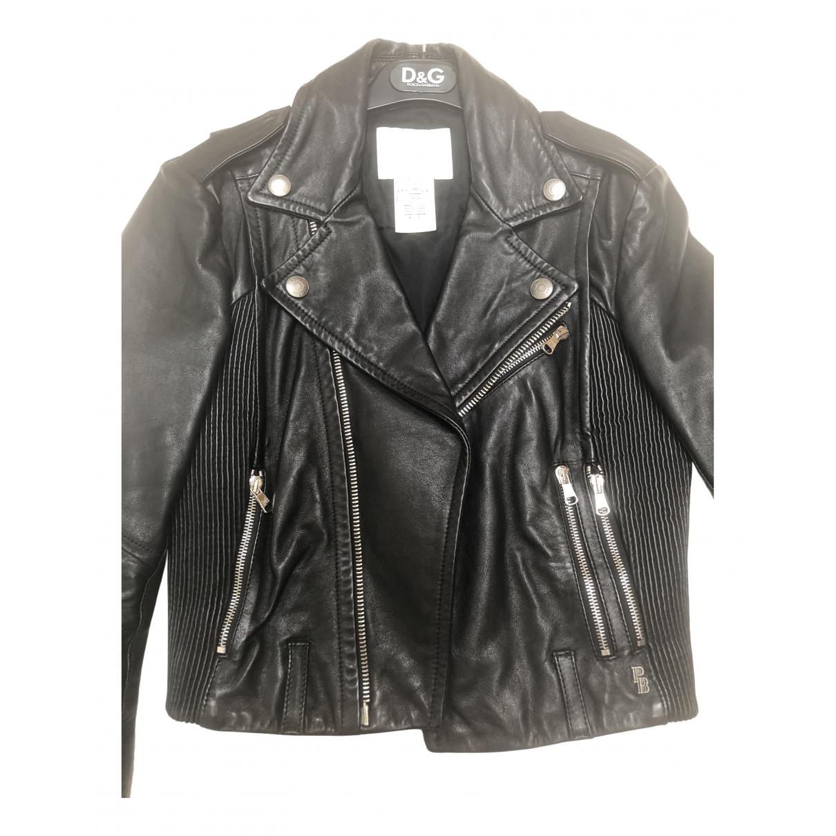 Pierre Balmain N Black Leather jacket for Women 36 FR