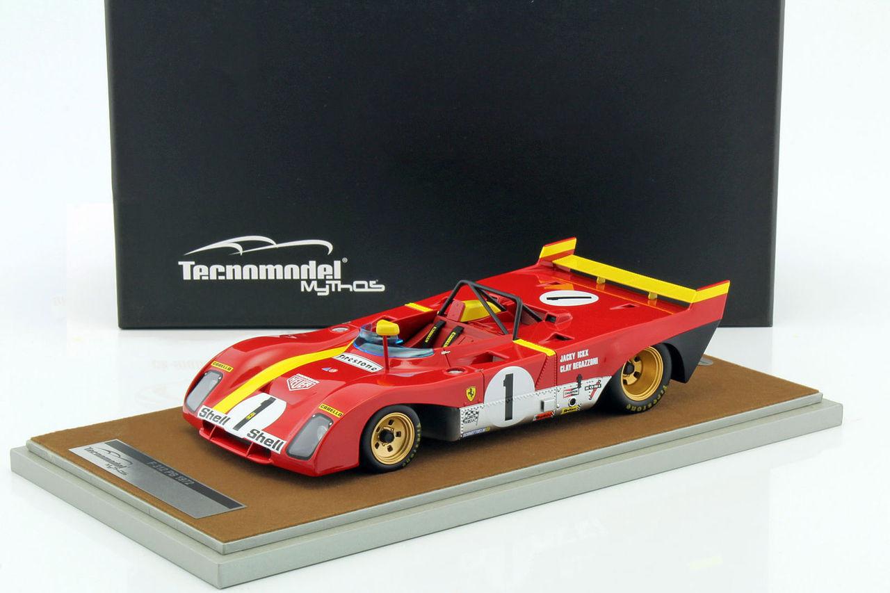 Ferrari 312 PB 1 1972 Winner 1000km Monza Jacky Ickx / Clay Regazzoni Limited Edition to 100pcs 1/18 Model Car by Tecnomodel