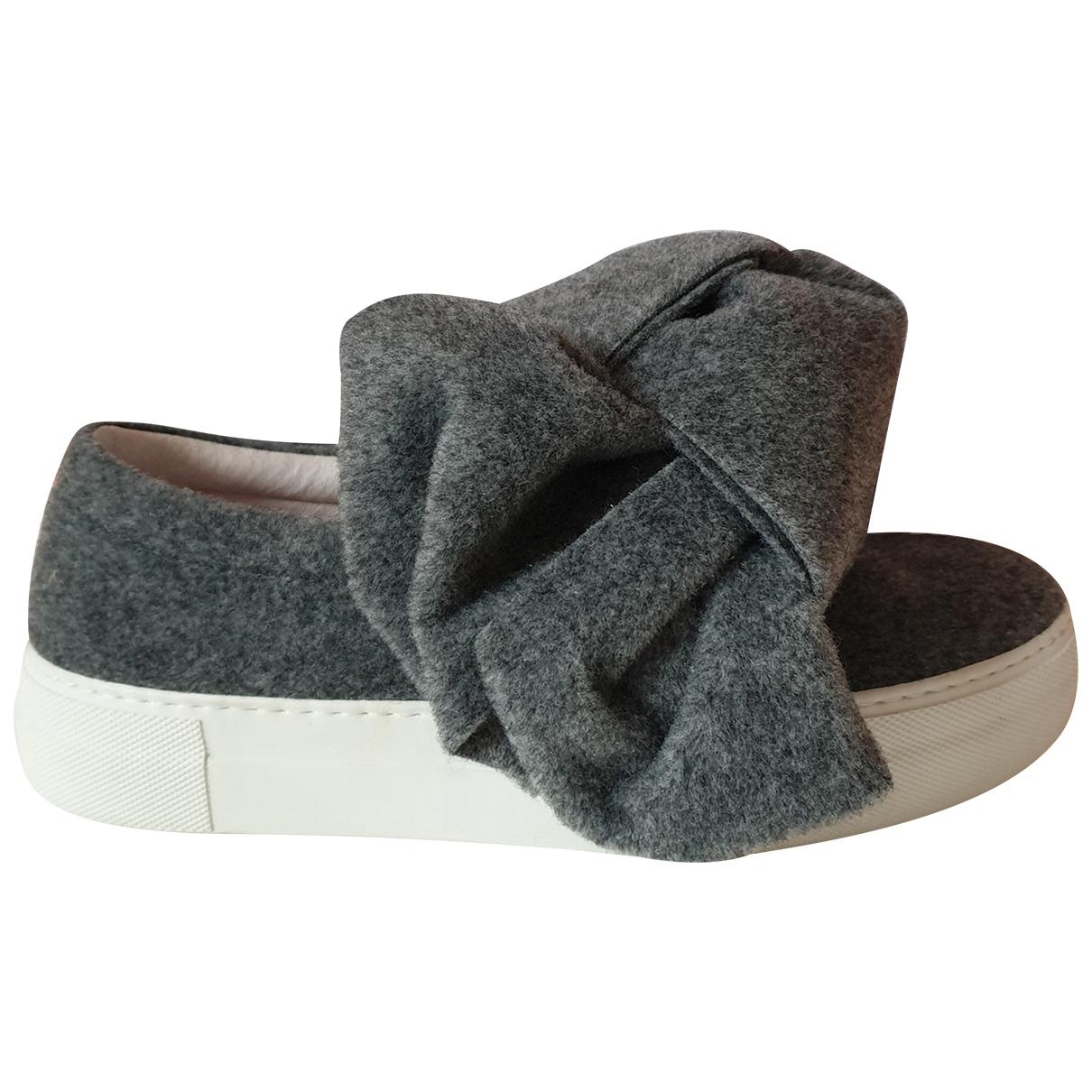 Joshua Sanders \N Sneakers in  Grau Leinen