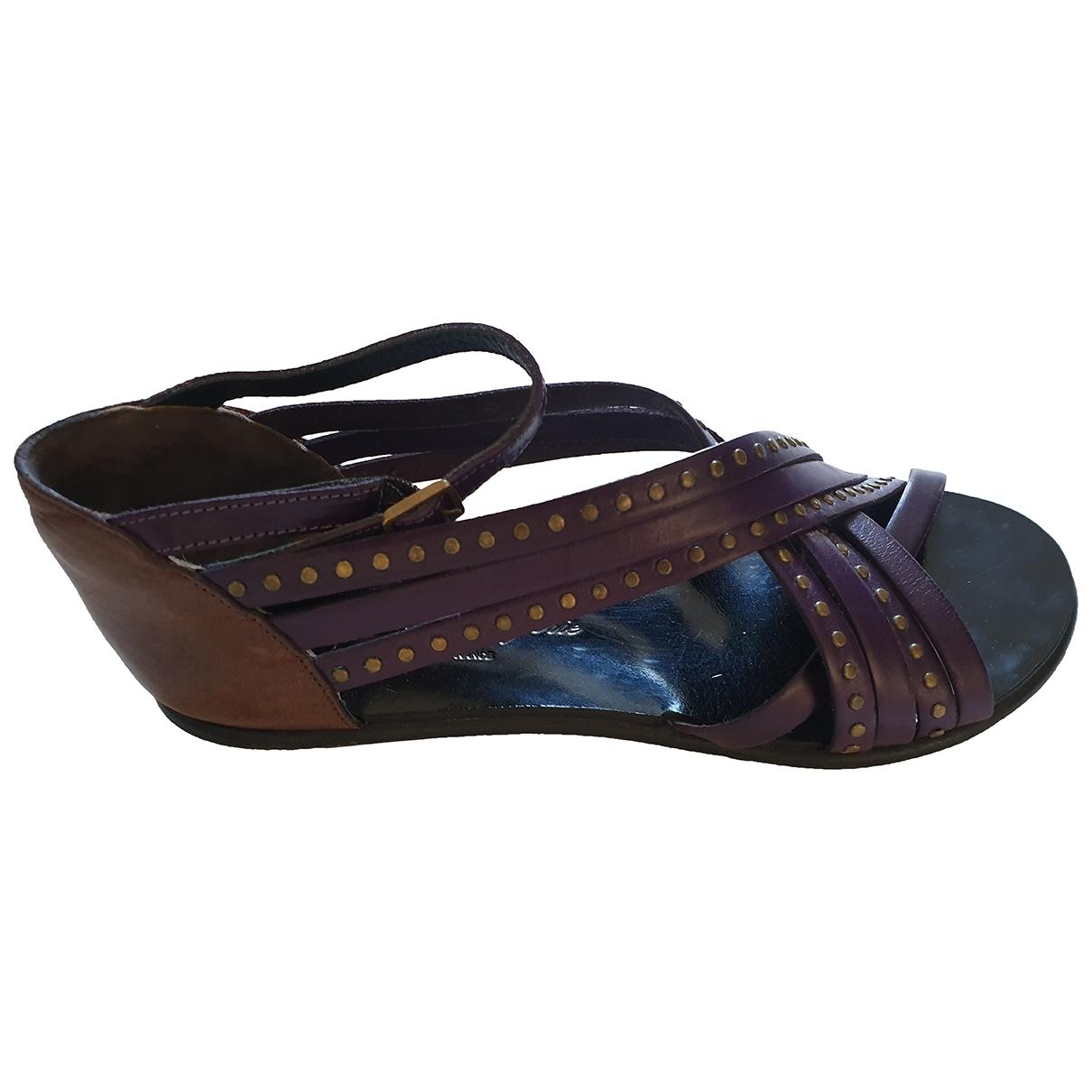 Robert Clergerie - Sandales   pour femme en cuir - violet