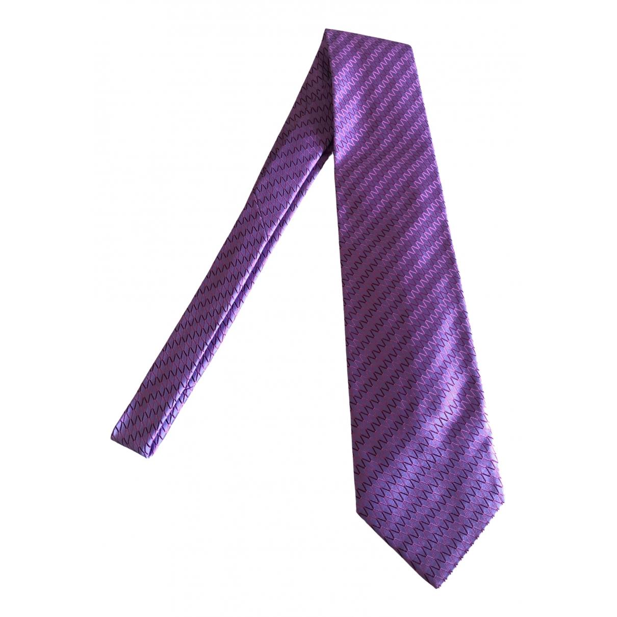 Zilli \N Purple Silk Ties for Men \N