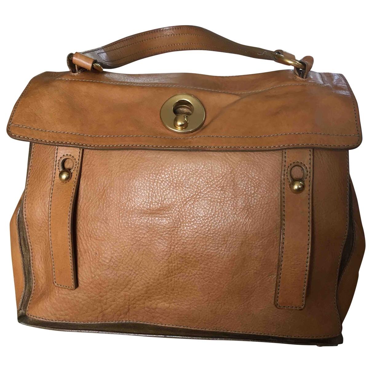 Yves Saint Laurent Muse Two Camel Leather handbag for Women \N