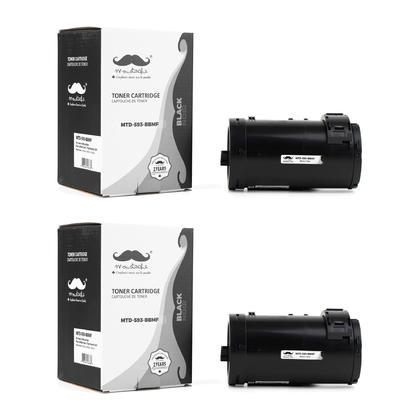 Compatible Dell 593-BBMF 47GMH D9GY0 cartouche de toner noire haute capacite - Moustache@ - 2/paquet