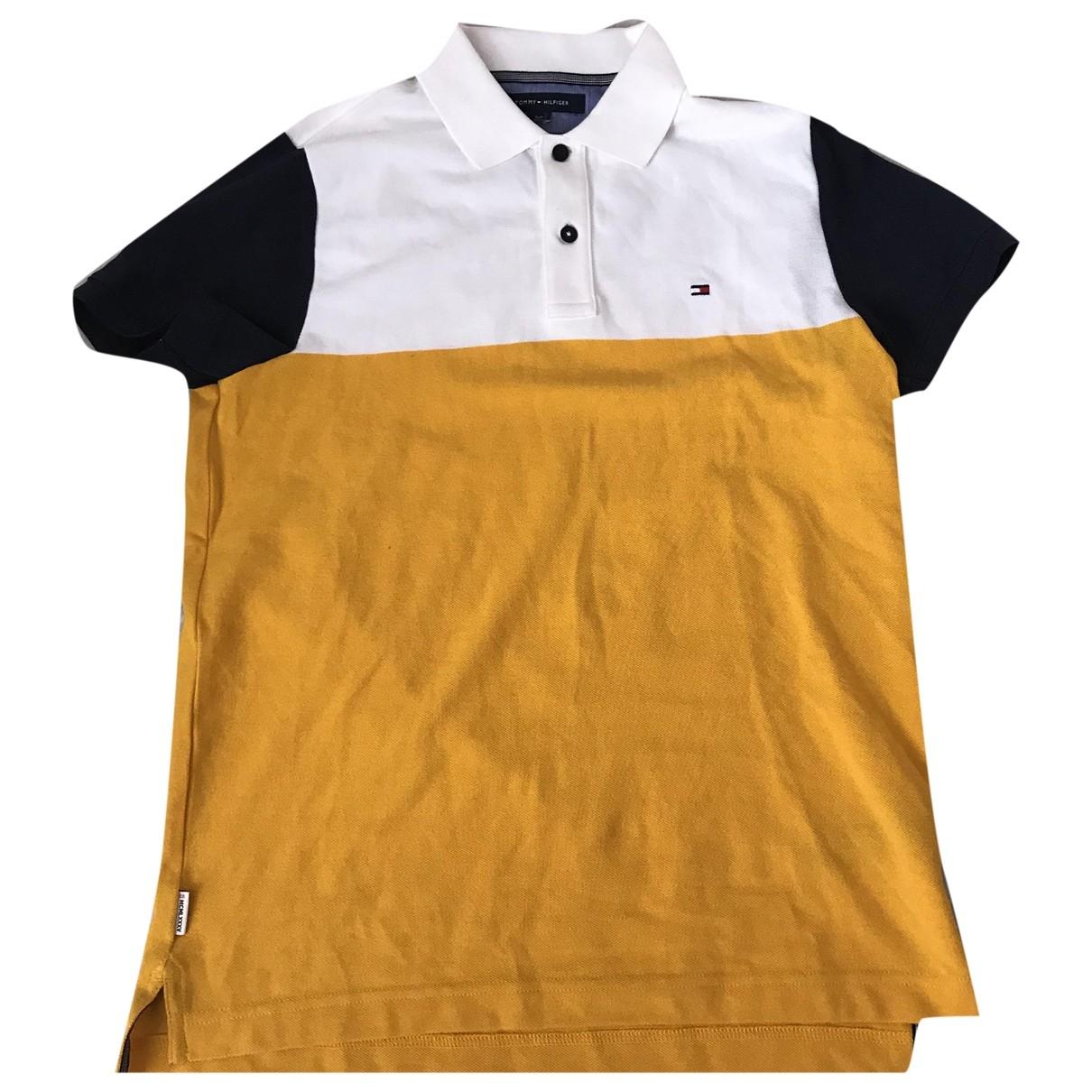 Tommy Hilfiger - Polos   pour homme en coton - jaune