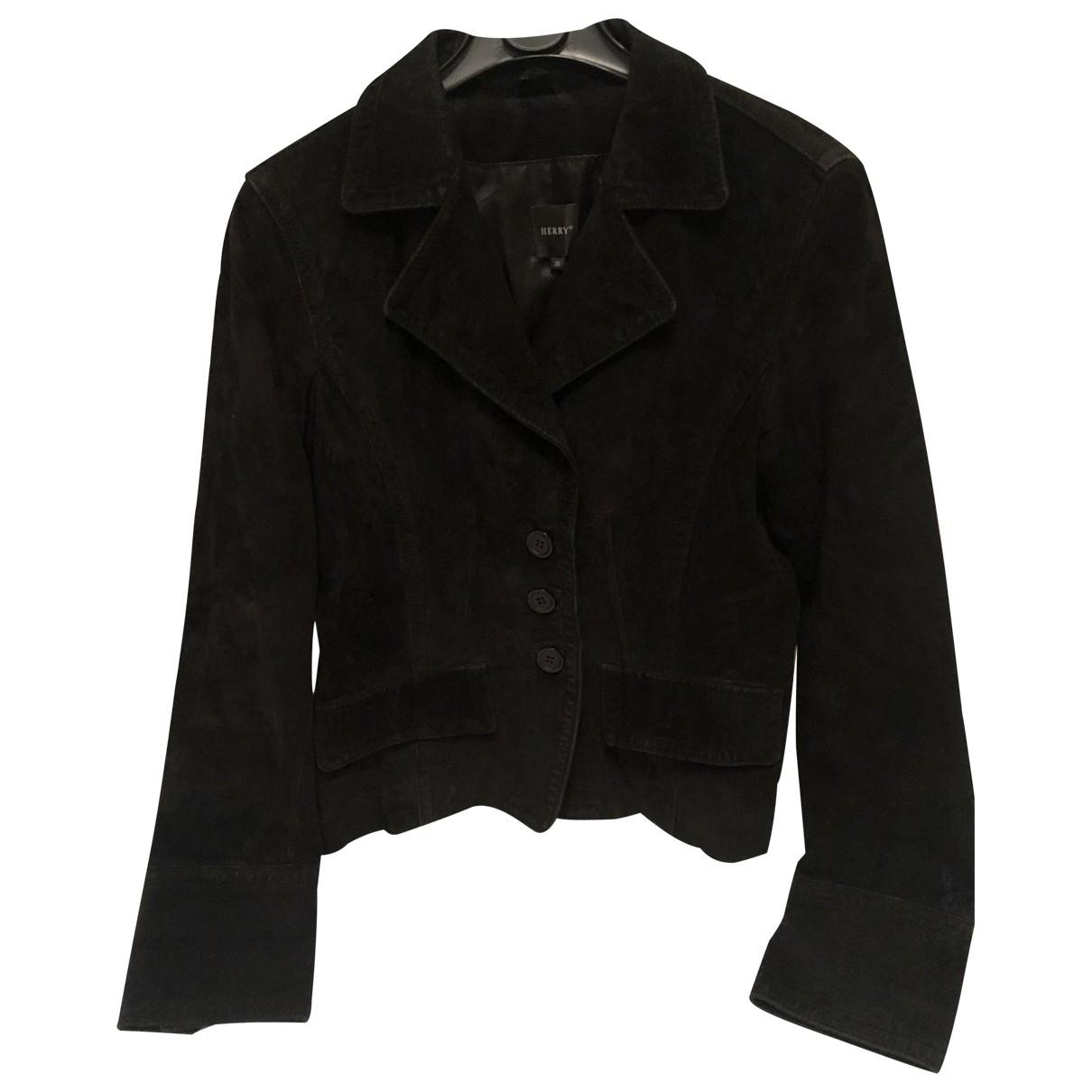 Henry Cotton - Veste   pour femme en cuir - noir
