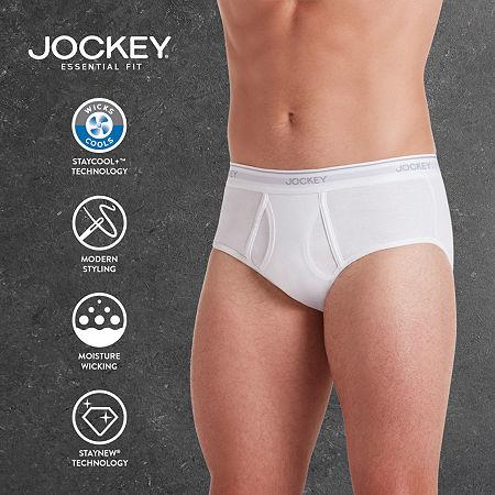 Jockey 3 Pair Staycool+ Brief - Big, 2x-large , White