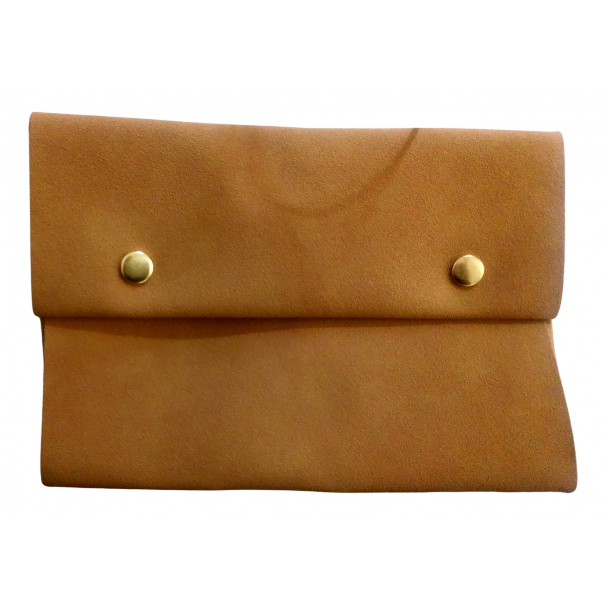 Non Signe / Unsigned \N Clutch in  Kamel Veloursleder