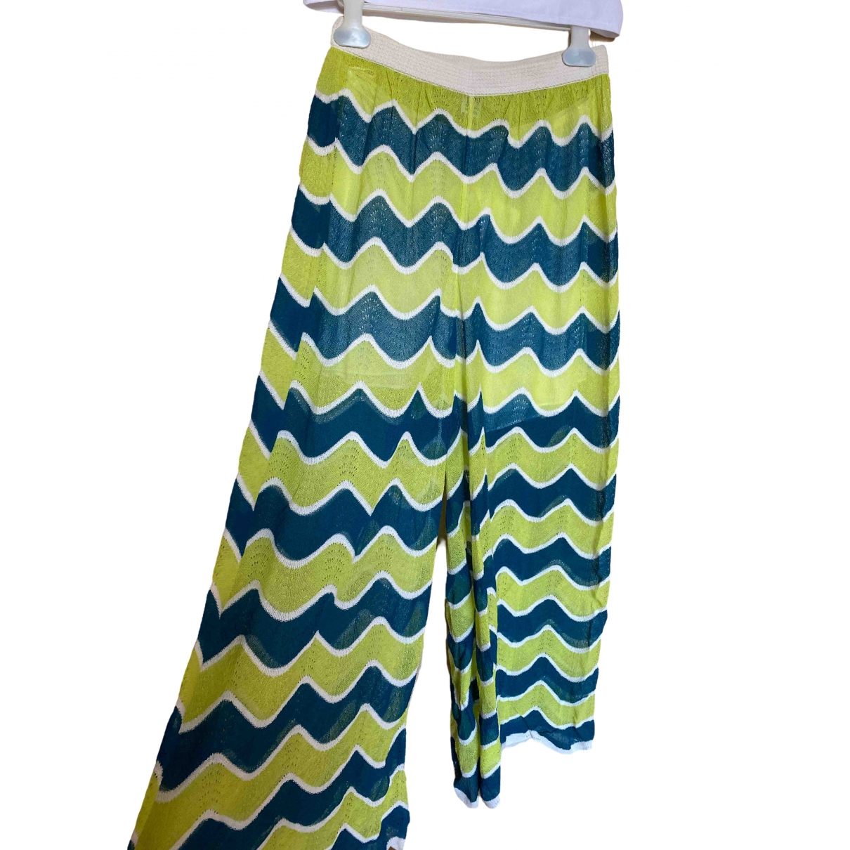 M Missoni \N Green Cotton Trousers for Women 40 FR