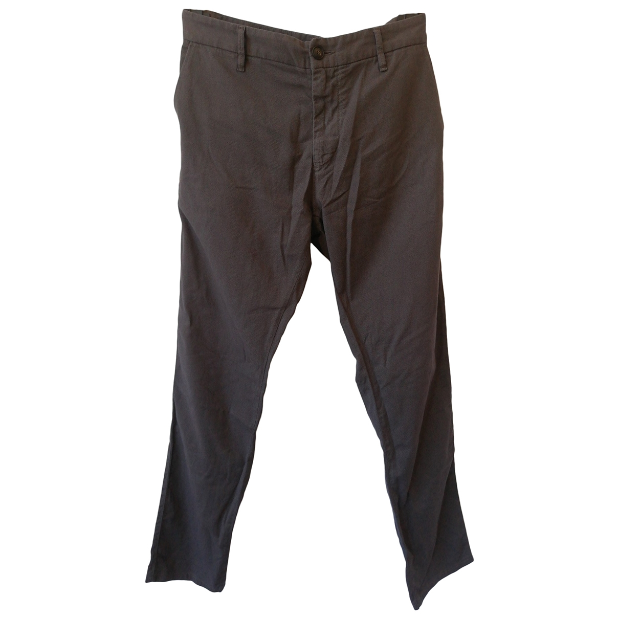 Armani Jeans \N Grey Cotton Trousers for Men 50 IT