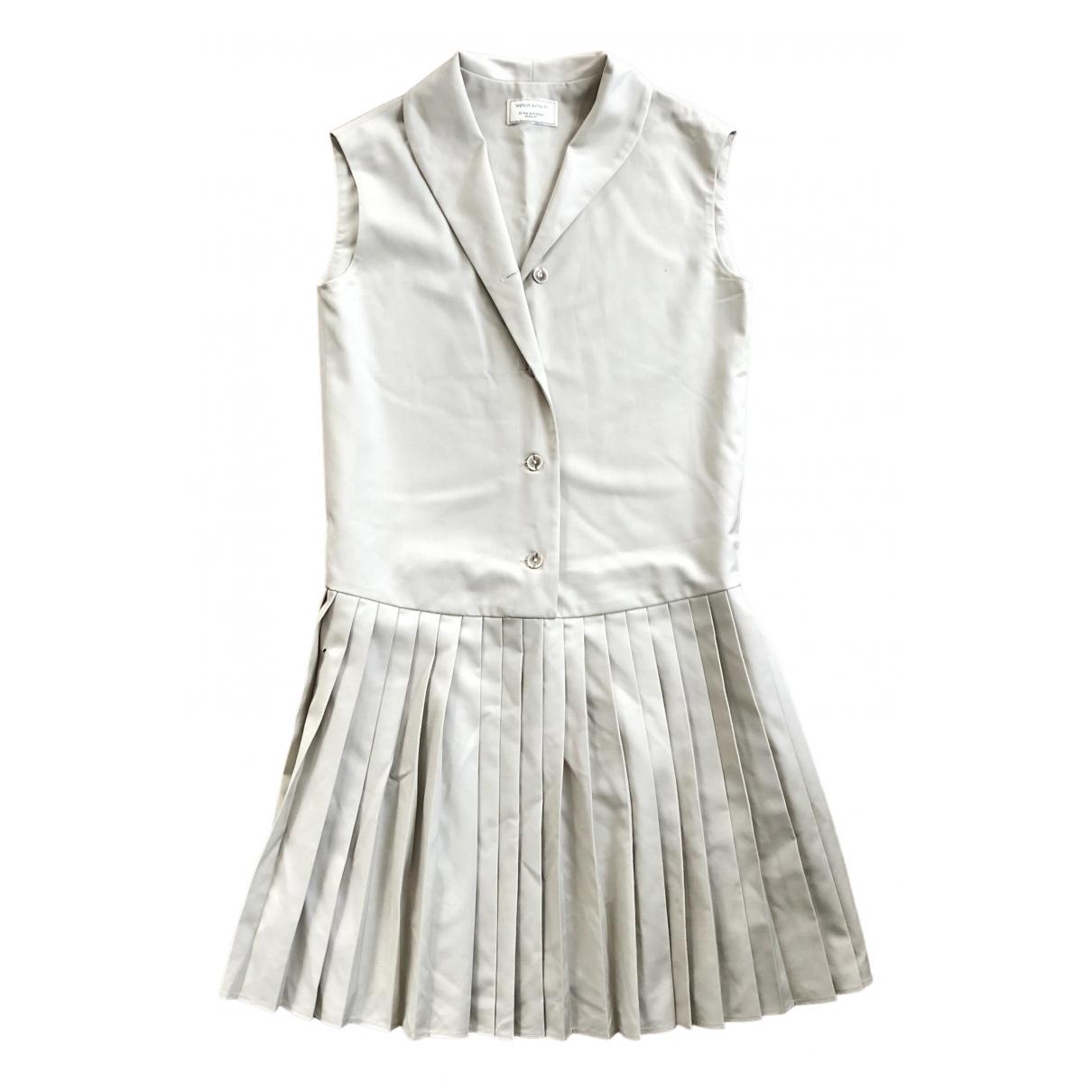 Maison Kitsune \N Kleid in  Beige Baumwolle