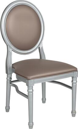 LE-S-T-MON-GG HERCULES Series 900 lb. Capacity King Louis Chair with Taupe Vinyl Back and Seat and Silver