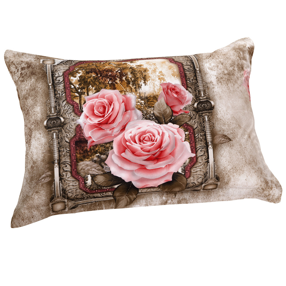 Delicate Blooming Pink Flowers Two Pieces Pillow Case