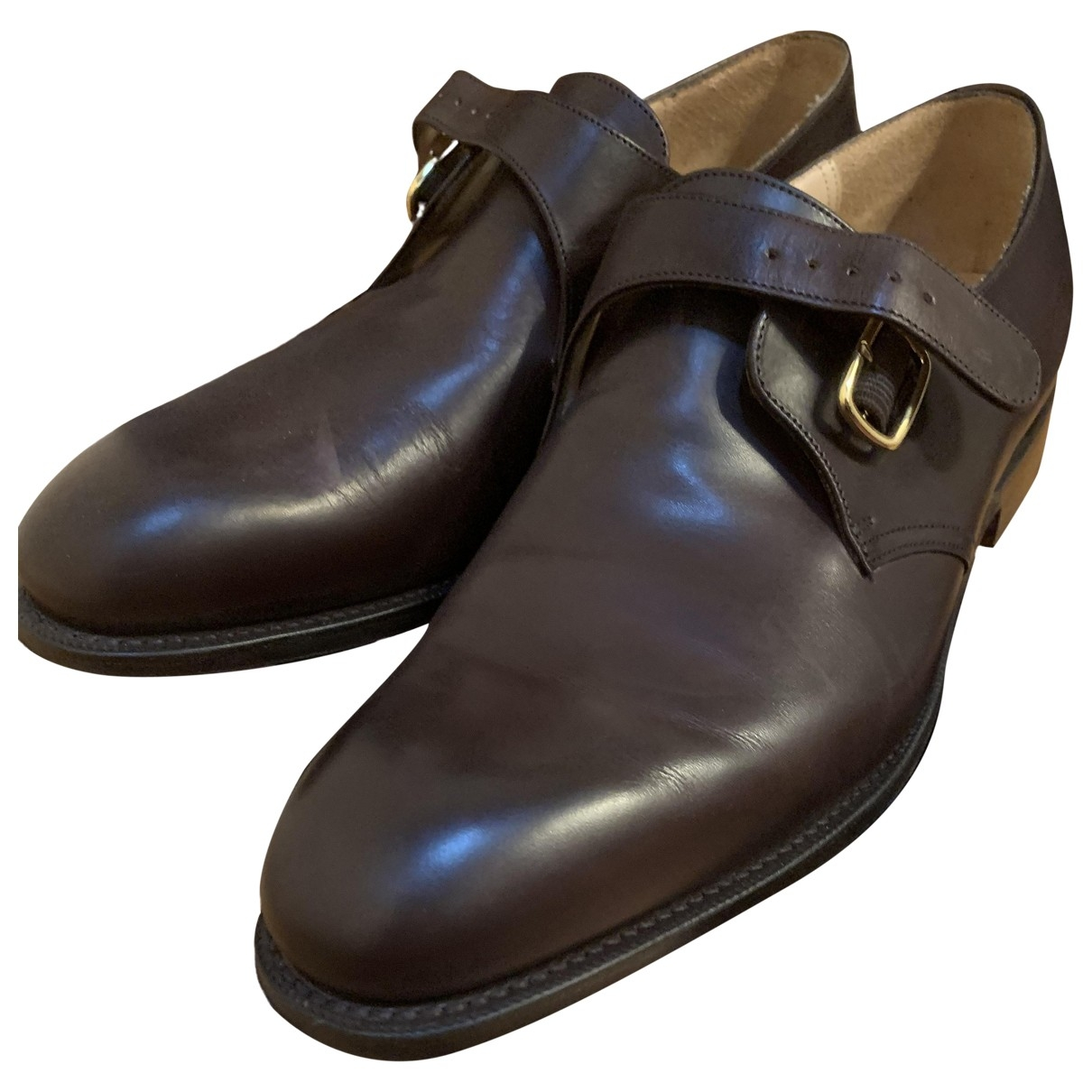 Church's \N Brown Leather Flats for Men 9 UK