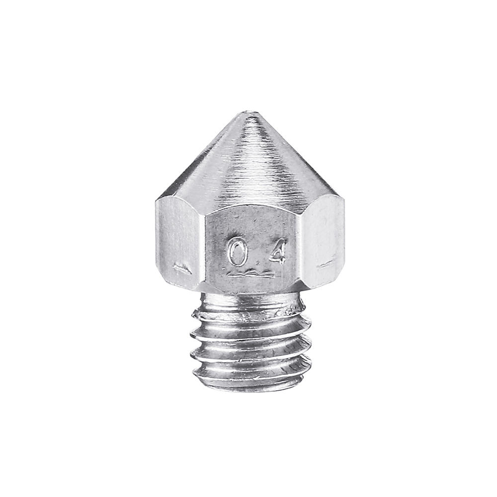 0.4mm M6 Threaded 1.75mm Filament Stainless Steel Nozzle for Reprap Makerbot 3D Printer