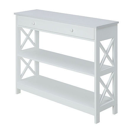 Convenience Concepts Oxford Living Room Collection 1-Drawer Console Table, One Size , White