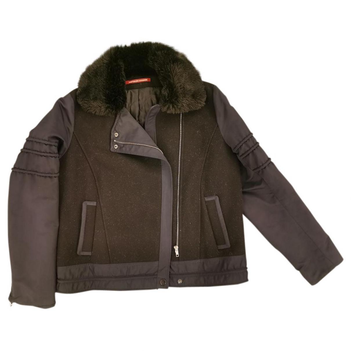 Comptoir Des Cotonniers \N Blue Leather jacket for Women 42 FR