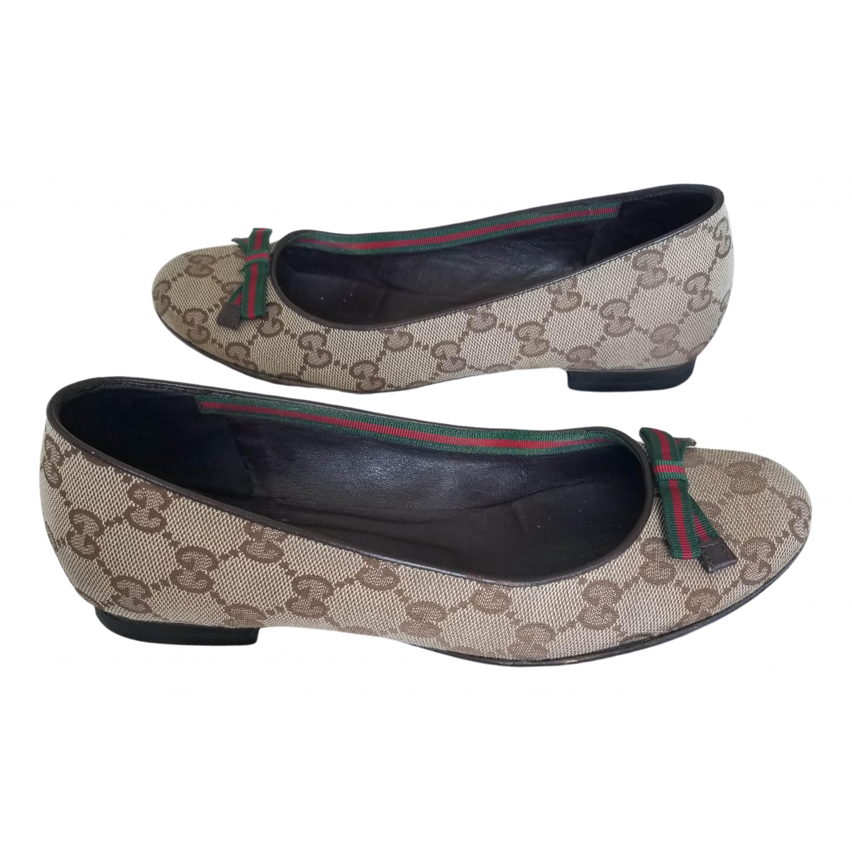 Gucci \N Brown Cloth Ballet flats for Women 36 IT