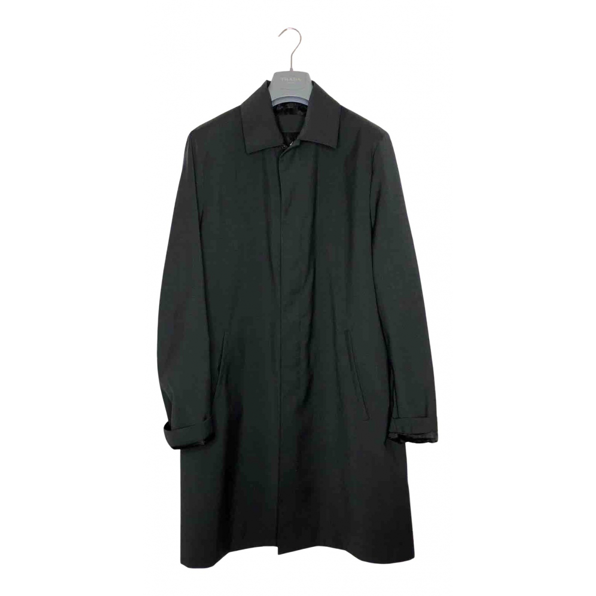 Prada - Manteau   pour homme en laine - anthracite