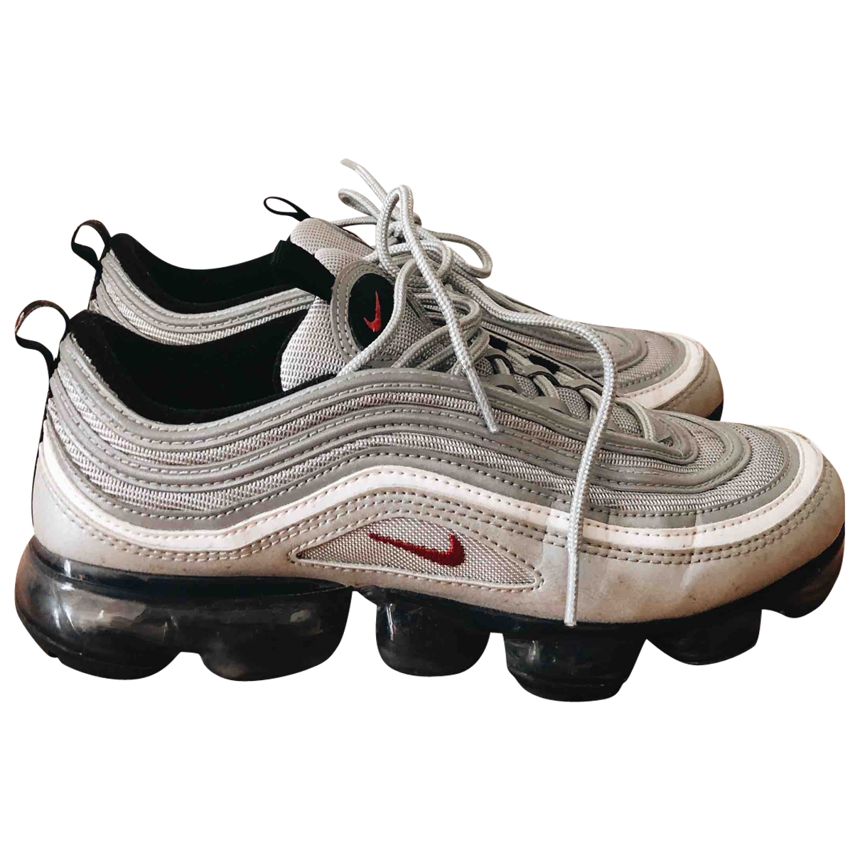 Nike Air Max 97 Silver Leather Trainers for Women 7 US