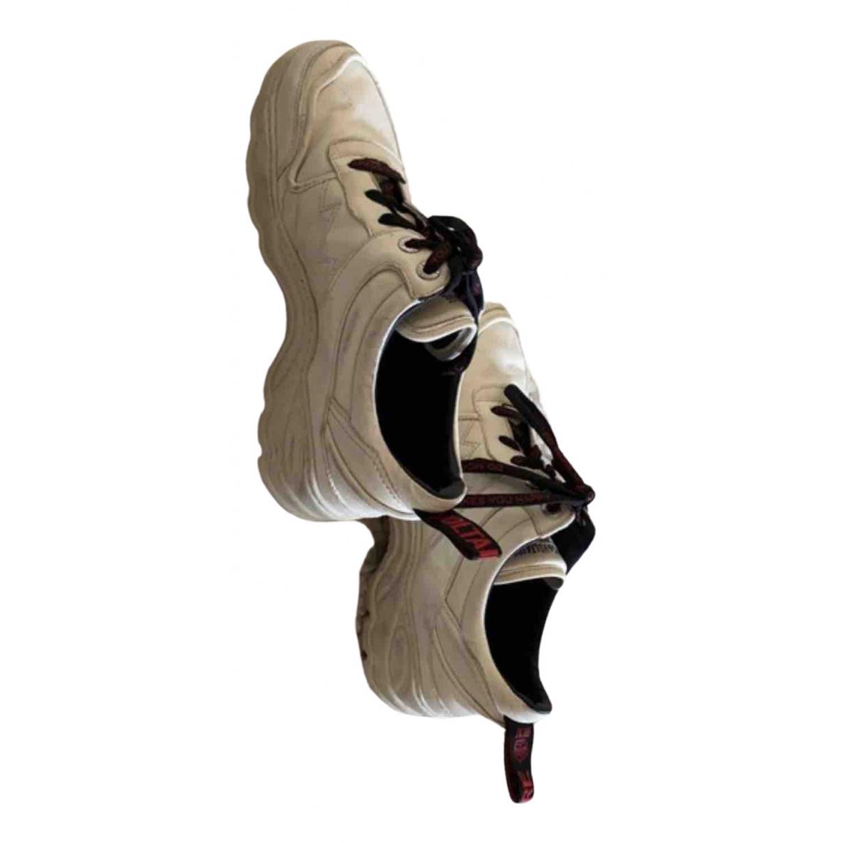 Zadig & Voltaire - Baskets   pour femme en cuir - ecru