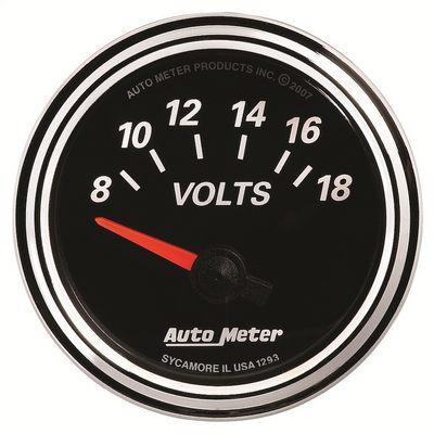 Auto Meter Designer Black II Voltmeter Gauge, 2 1/16 inch - AMG1293