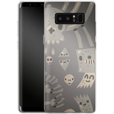 Samsung Galaxy Note 8 Silikon Handyhuelle - Cartoon Bones von caseable Designs