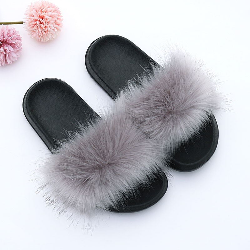 Ericdress Slip-On Pompon Flat With PVC Slippers