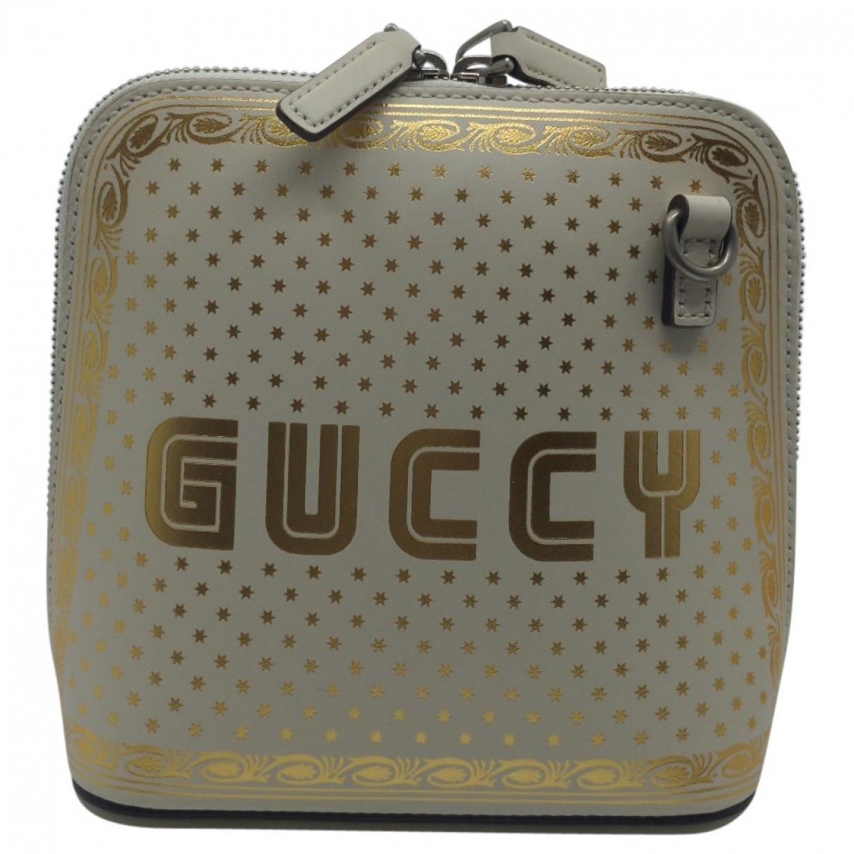 Gucci Guccy minibag Handtasche in  Beige Leder