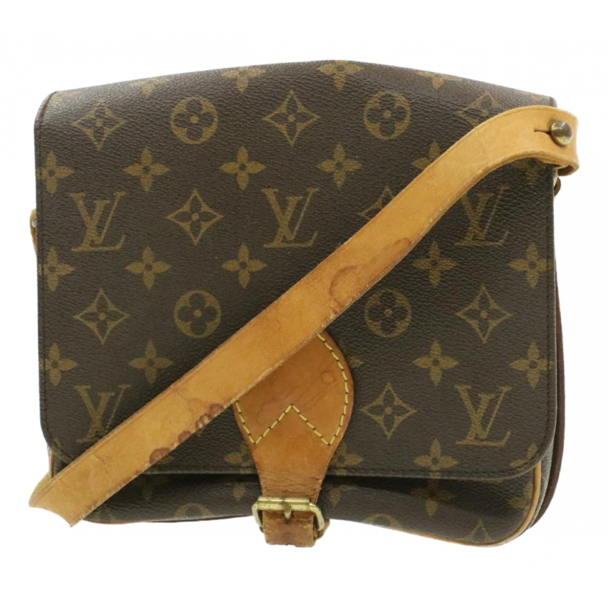 Louis Vuitton Cartouchière Brown Cloth handbag for Women N