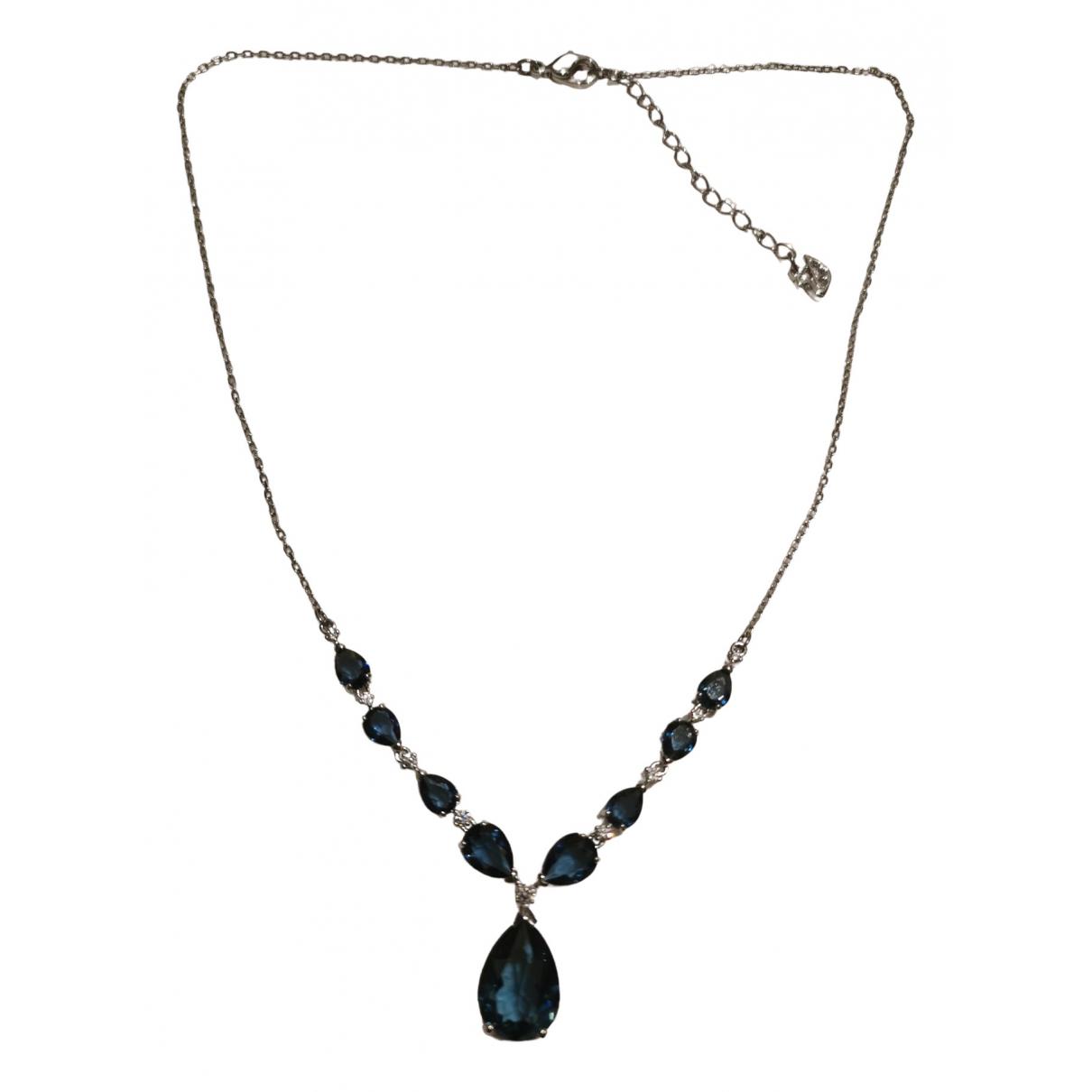 Swarovski \N Kette in  Blau Kristall