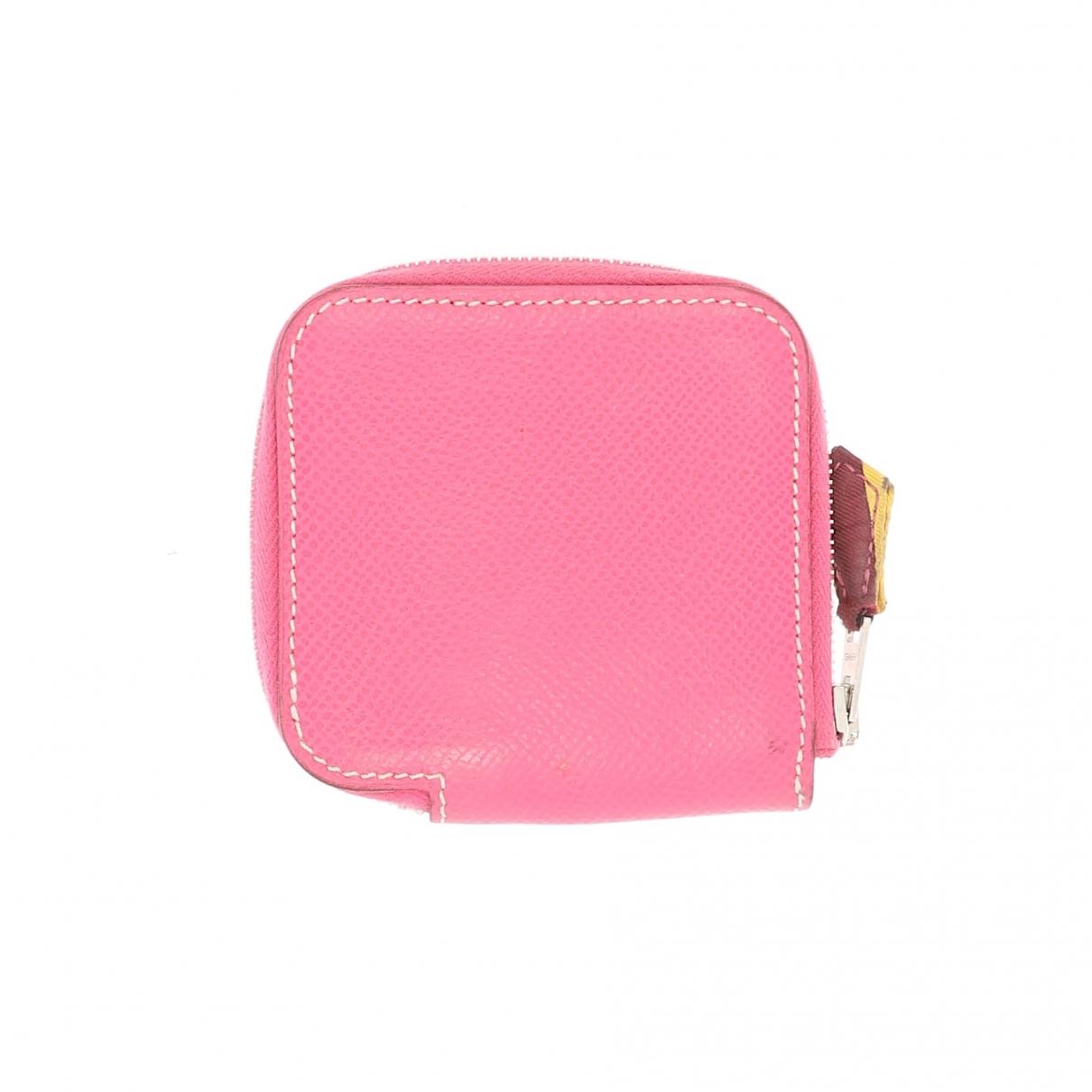 Hermes - Petite maroquinerie Silkin pour femme en cuir - rose