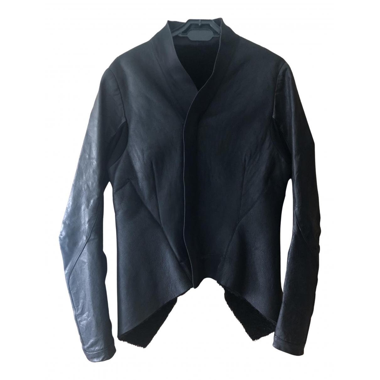 Rick Owens N Black Leather jacket for Women 10 UK