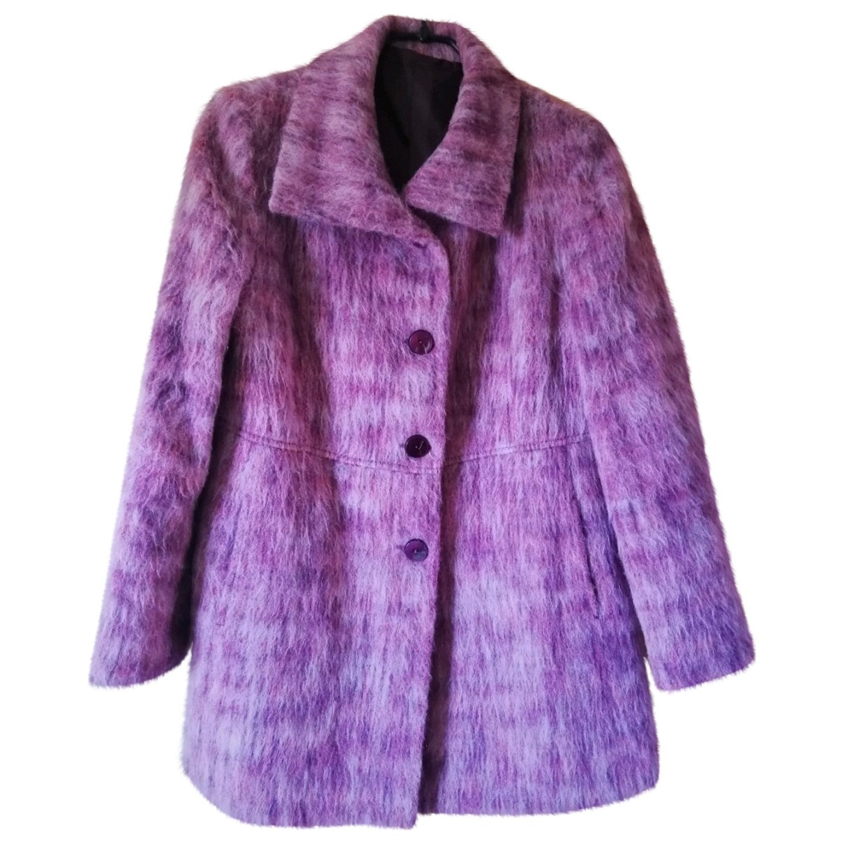 Non Signé / Unsigned \N Multicolour Wool coat for Women 46 FR