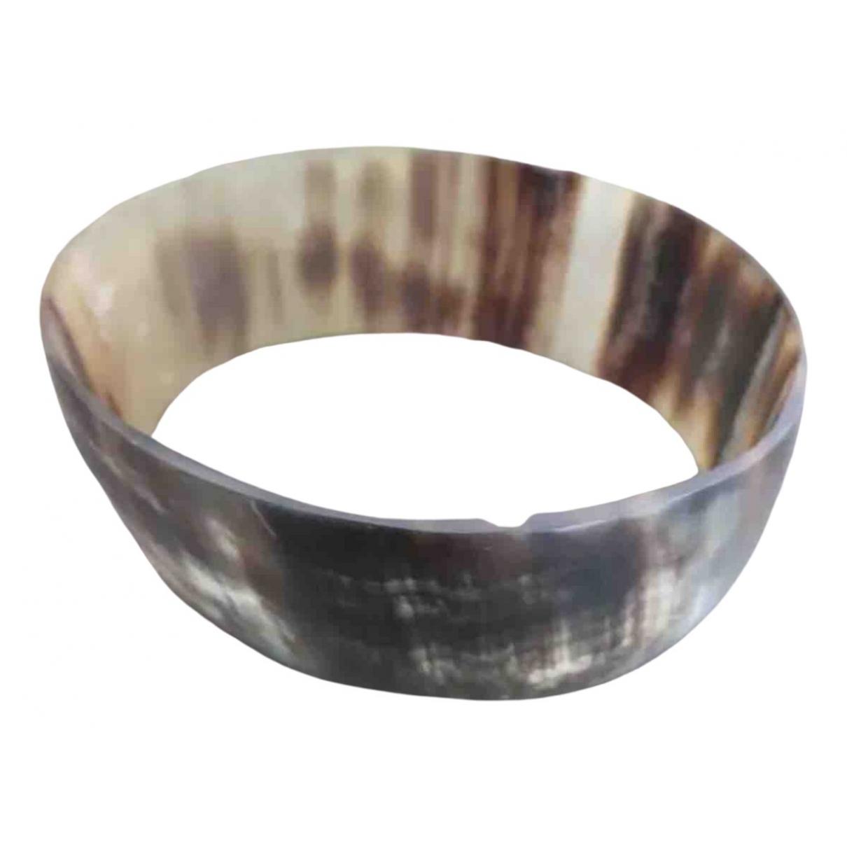 Monies - Bracelet   pour femme en corne - kaki
