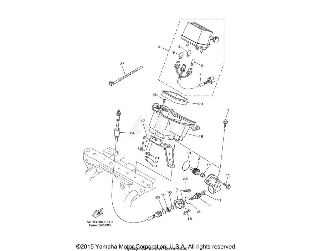 Yamaha OEM 12S-83570-00-00 SPEEDOMETER ASSY | (MPH MODEL)