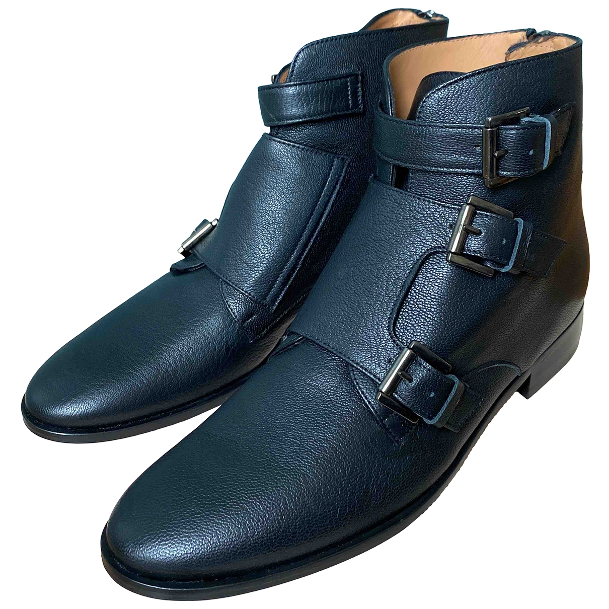 Emma Go \N Black Leather Ankle boots for Women 41 EU
