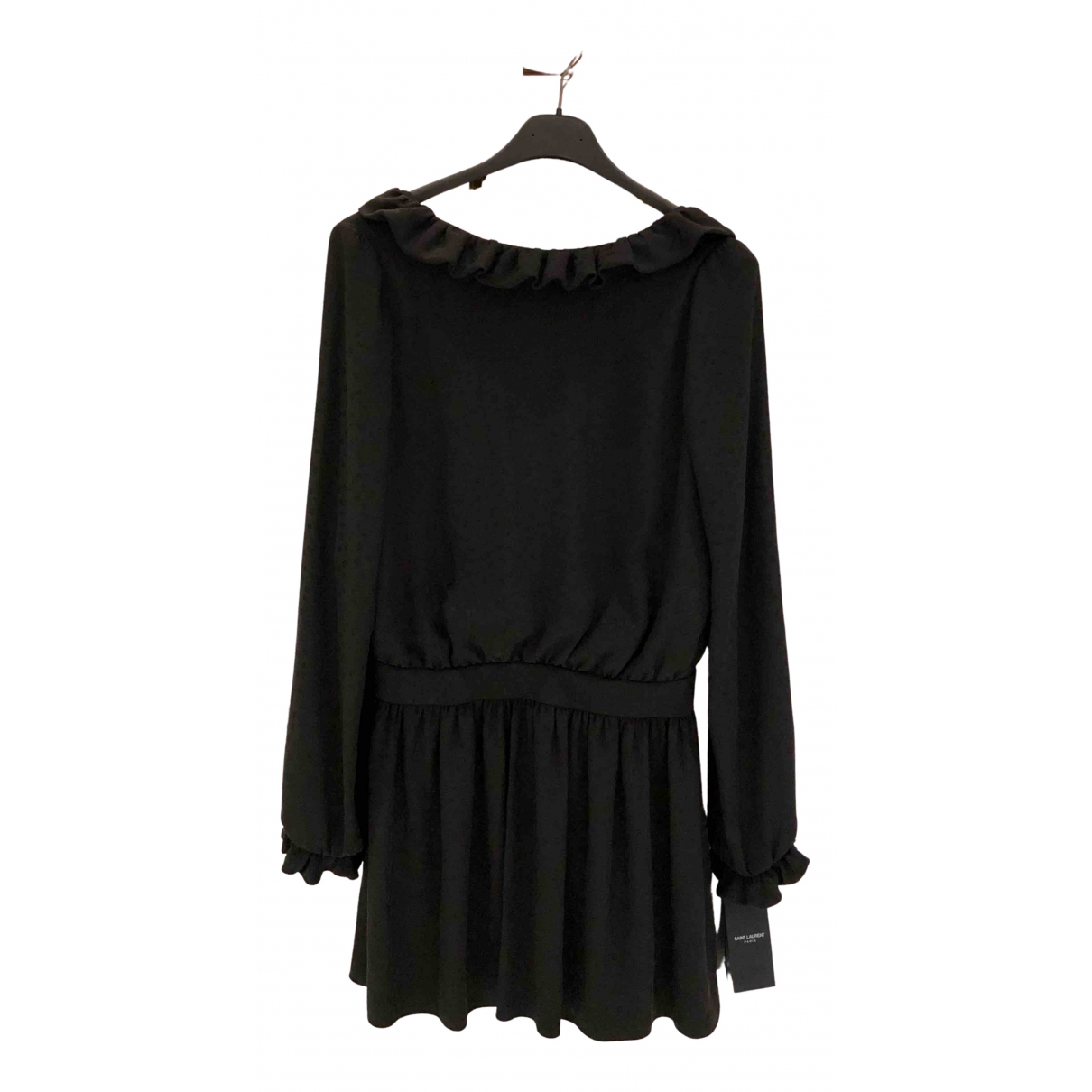 Saint Laurent - Robe   pour femme en soie - noir