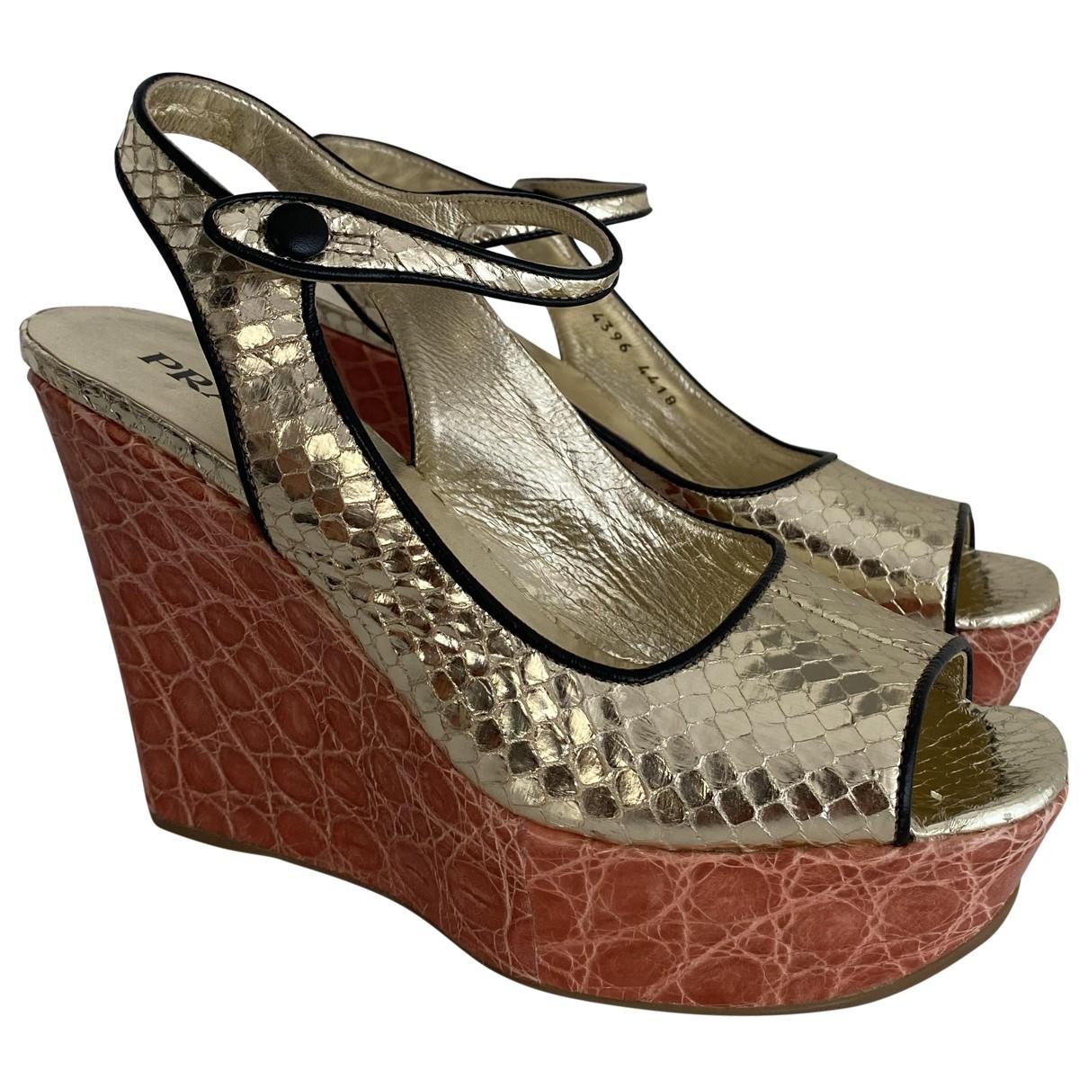 Sandalias de Piton Prada