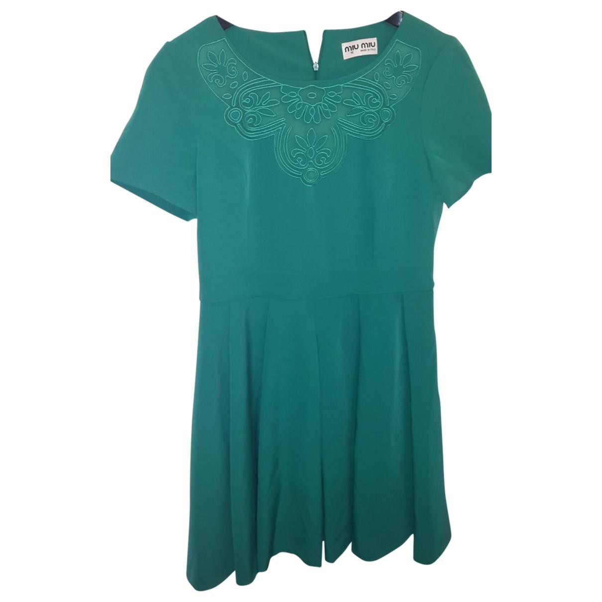 Miu Miu \N Green dress for Women 40 FR