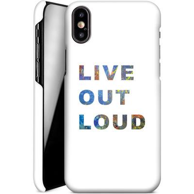 Apple iPhone XS Smartphone Huelle - Live Out Loud von Kaitlyn Parker