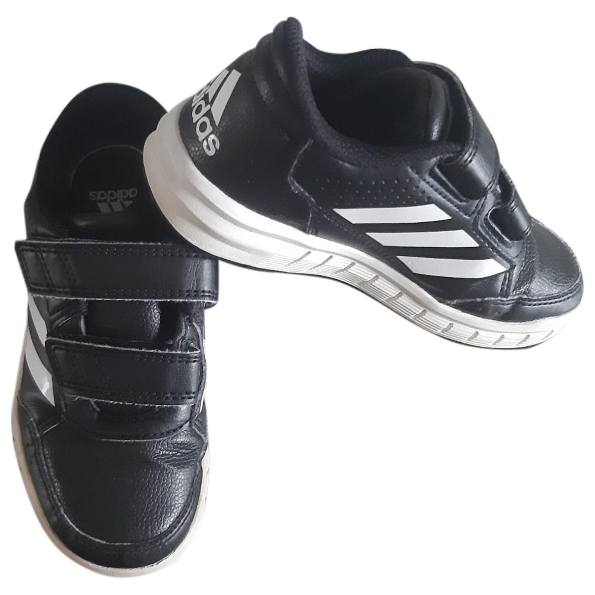 Adidas - Baskets   pour enfant en cuir - noir