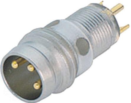 Binder Connector, 4 contacts Panel Mount M8 Socket, Solder IP65, IP67
