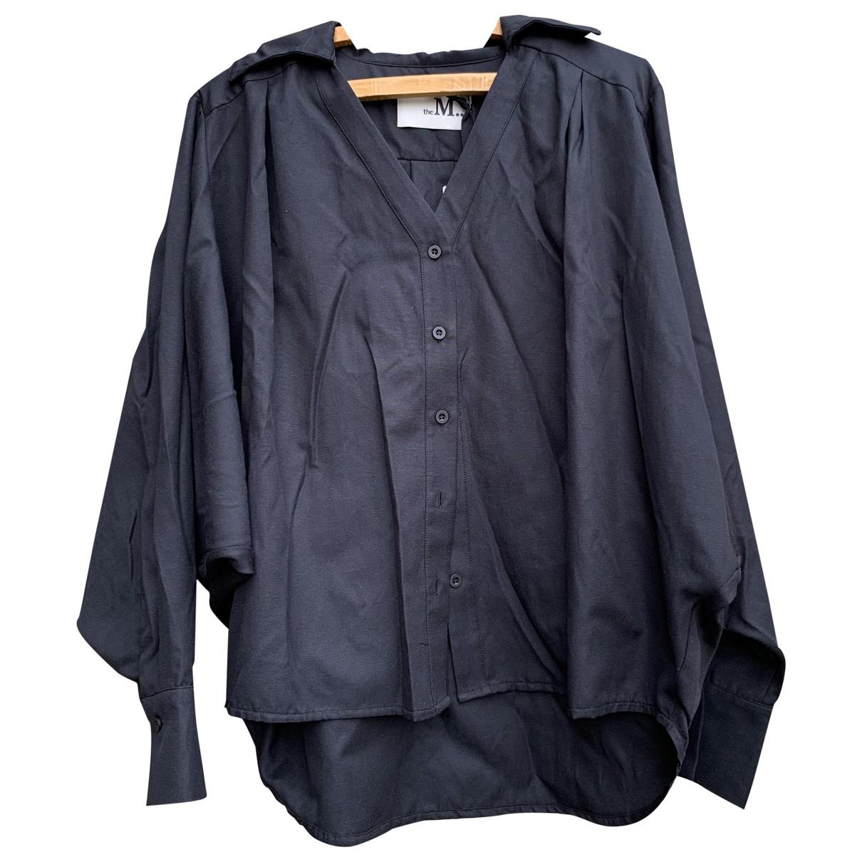 - Pull Oversize pour femme en coton - noir